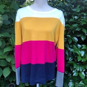 Crown & Ivy Color Block Pullover Sweater